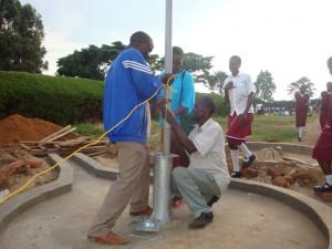 The Water Project : bishop-sulumeti-girls-school-pump-installation
