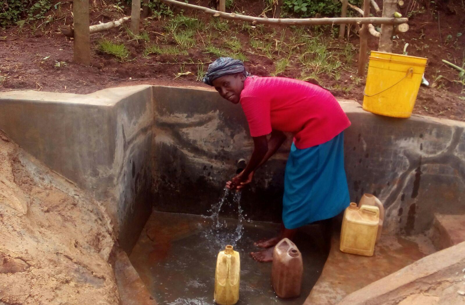 Nuru Okumbe Spring Protection and Sanitation Project